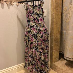 Talbots floral silk dress